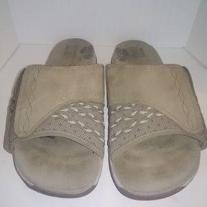 Merrell Tan Slide Slip On Sandals - Women's 10